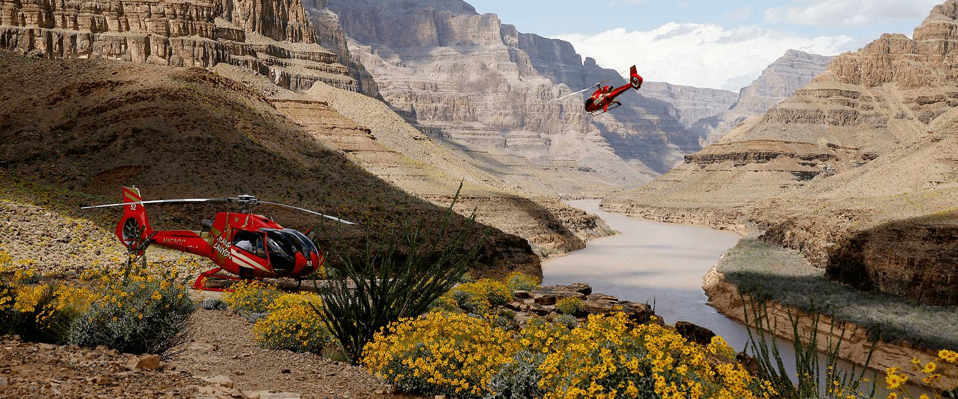 Полет на вертолете над Гранд-Каньоном
